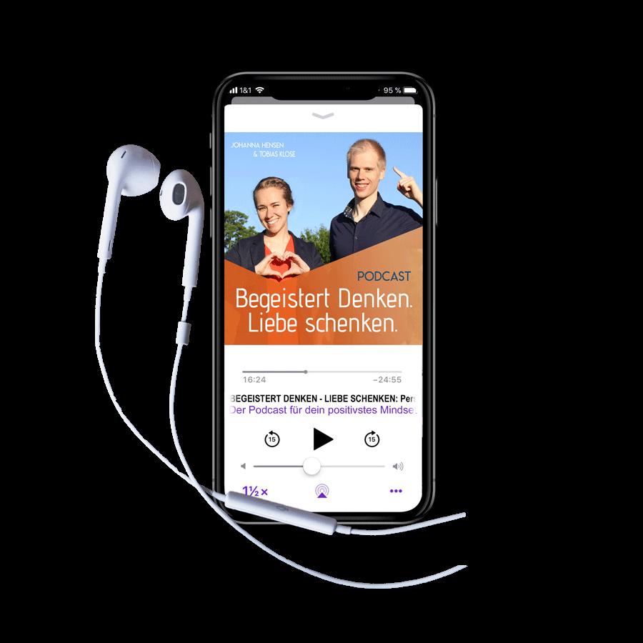 Apple Podcast Begeistert Denken Liebe schenken Power-Mindset