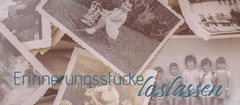 zeigt alte Erinnerungsstücke zum Loslassen